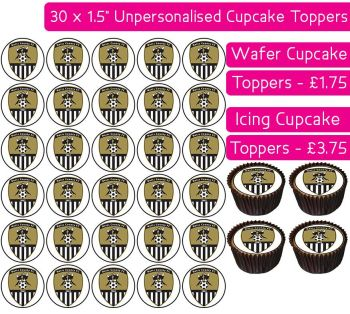 Notts County Football - 30 Cupcake Toppers