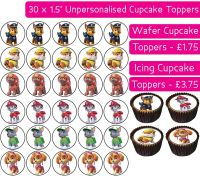 Paw Patrol - 30 Cupcake Toppers