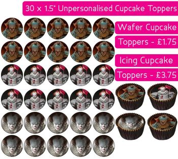 Pennywise - 30 Cupcake Toppers