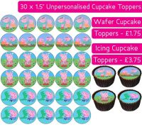 Peppa Pig - 30 Cupcake Toppers