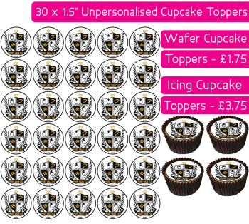 Port Vale Football - 30 Cupcake Toppers