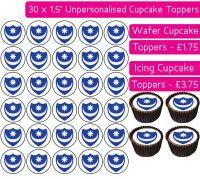 Portsmouth Football - 30 Cupcake Toppers