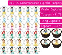 Princess - 30 Cupcake Toppers