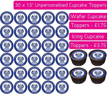 Rochdale Football - 30 Cupcake Toppers