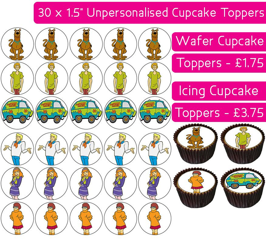 Scooby Doo - 30 Cupcake Toppers