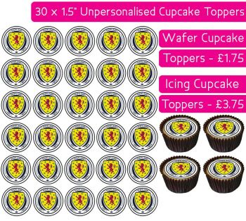 Scotland Football - 30 Cupcake Toppers