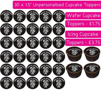 Sons Of Anarchy - 30 Cupcake Toppers