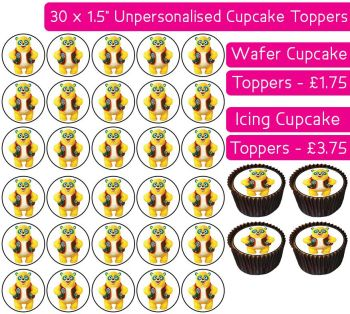 Special Agent Oso - 30 Cupcake Toppers