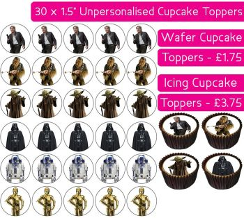 Star Wars - 30 Cupcake Toppers