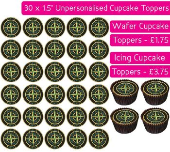 Stone Island - 30 Cupcake Toppers