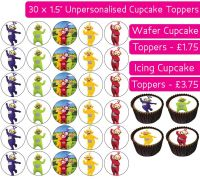 Teletubbies - 30 Cupcake Toppers