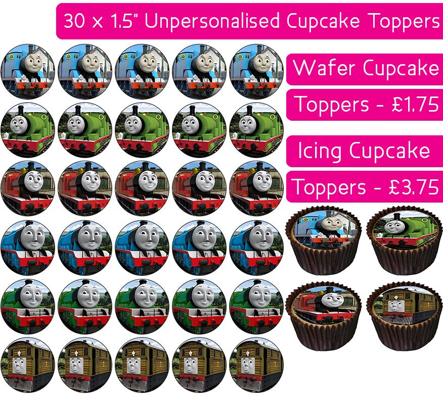 Thomas The Tank Engine - 30 Cupcake Toppers