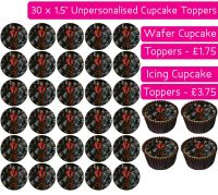 Thriller Michael Jackson - 30 Cupcake Toppers