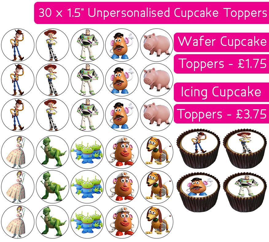 Toy Story - 30 Cupcake Toppers