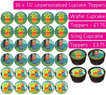 Wanda And The Alien - 30 Cupcake Toppers