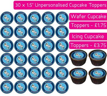 Wycombe Wanderers Football - 30 Cupcake Toppers