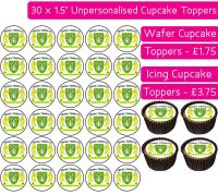 Yeovil Town Football - 30 Cupcake Toppers