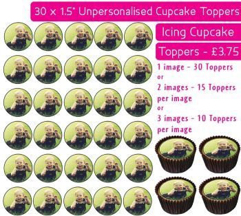 Your Own Personalised Photo - 30 Icing Cupcake Toppers