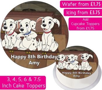 101 Dalmatians Personalised Cake Topper