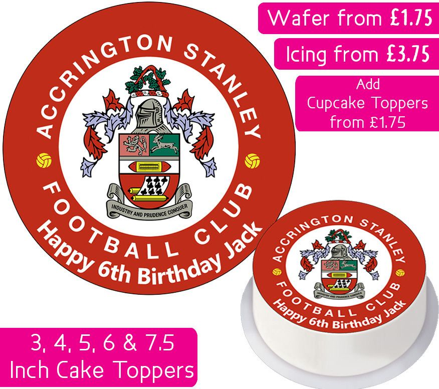 Accrington Stanley Football Personalised Cake Topper