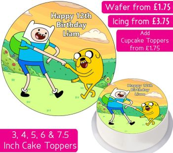 Adventure Time Finn & Jake Personalised Cake Topper