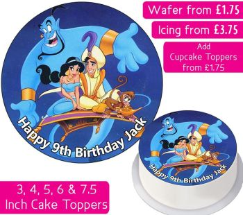 Aladdin Personalised Cake Topper