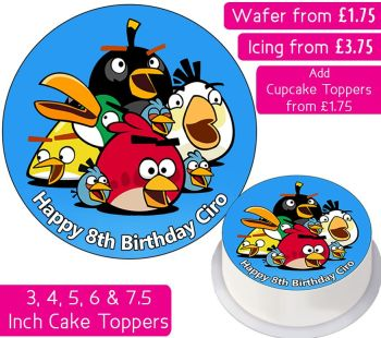 Angry Birds Personalised Cake Topper
