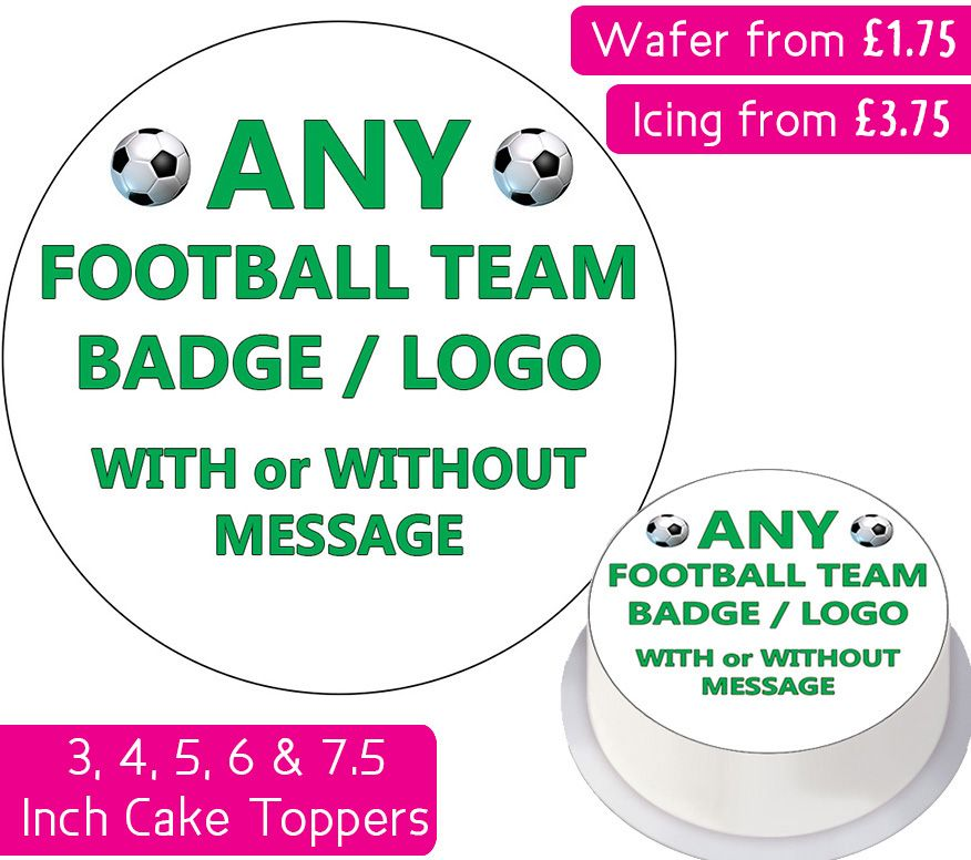 Any Football Team Personalised Cake Topper