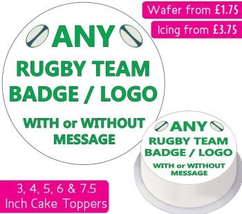 Any Rugby Team Personalised Cake Topper