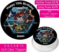 Avengers Team Personalised Cake Topper