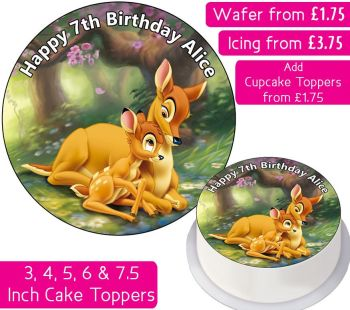 Bambi Personalised Cake Topper