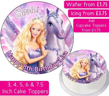 Barbie & Pegasus Personalised Cake Topper