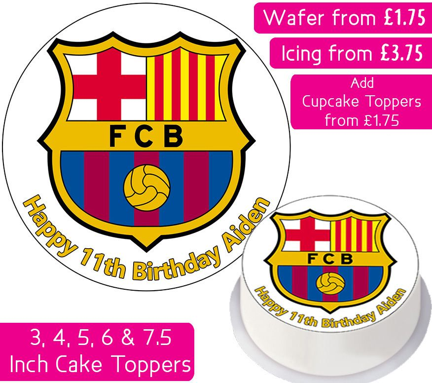 Barcelona Football Personalised Cake Topper