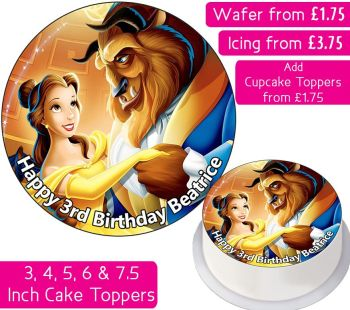 Beauty And The Beast Personalised Cake Topper