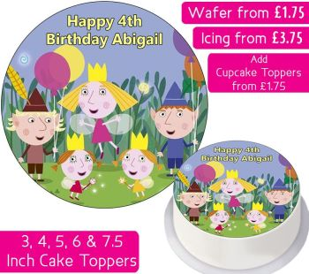 Ben and Holly's Little Kingdom Birthday Personalised Cake Topper
