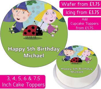Ben and Holly's Little Kingdom Ladybug Personalised Cake Topper