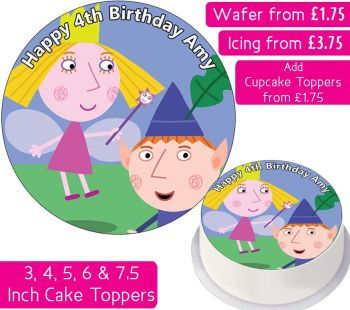 Ben and Holly's Little Kingdom Personalised Cake Topper