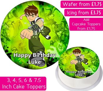 Ben Ten Personalised Cake Topper