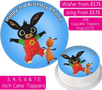 Bing Cbeebies Personalised Cake Topper
