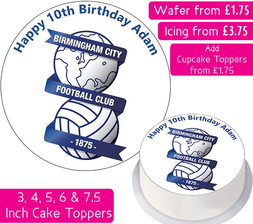 Birmingham City Football Personalised Cake Topper