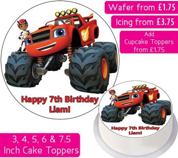 Blaze And The Monster Machines Personalised Cake Topper