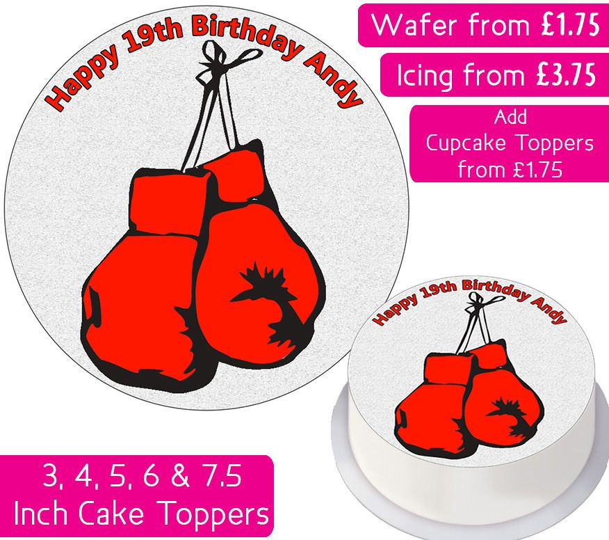 Boxing Personalised Cake Topper