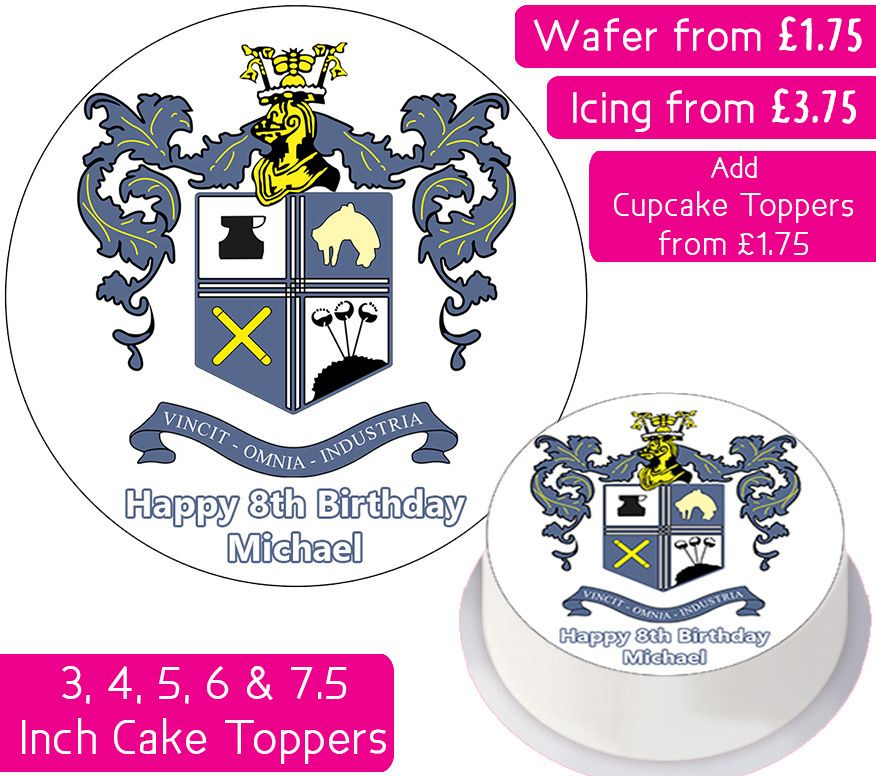 Bury Football Personalised Cake Topper