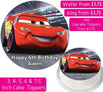 Cars Solo Personalised Cake Topper