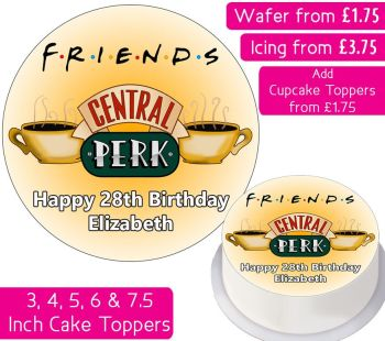 Central Perk Personalised Cake Topper