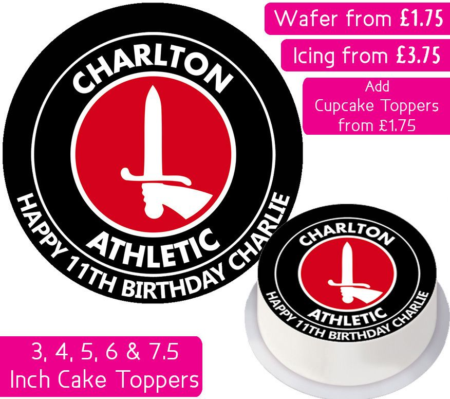 Charlton Athletic Football Personalised Cake Topper