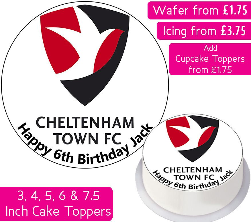 Cheltenham Town Football Personalised Cake Topper