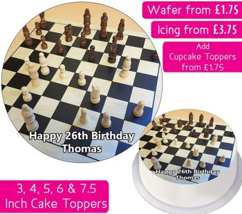 Chess Personalised Cake Topper