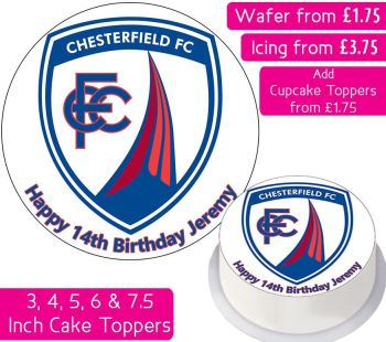 Chesterfield Football Personalised Cake Topper