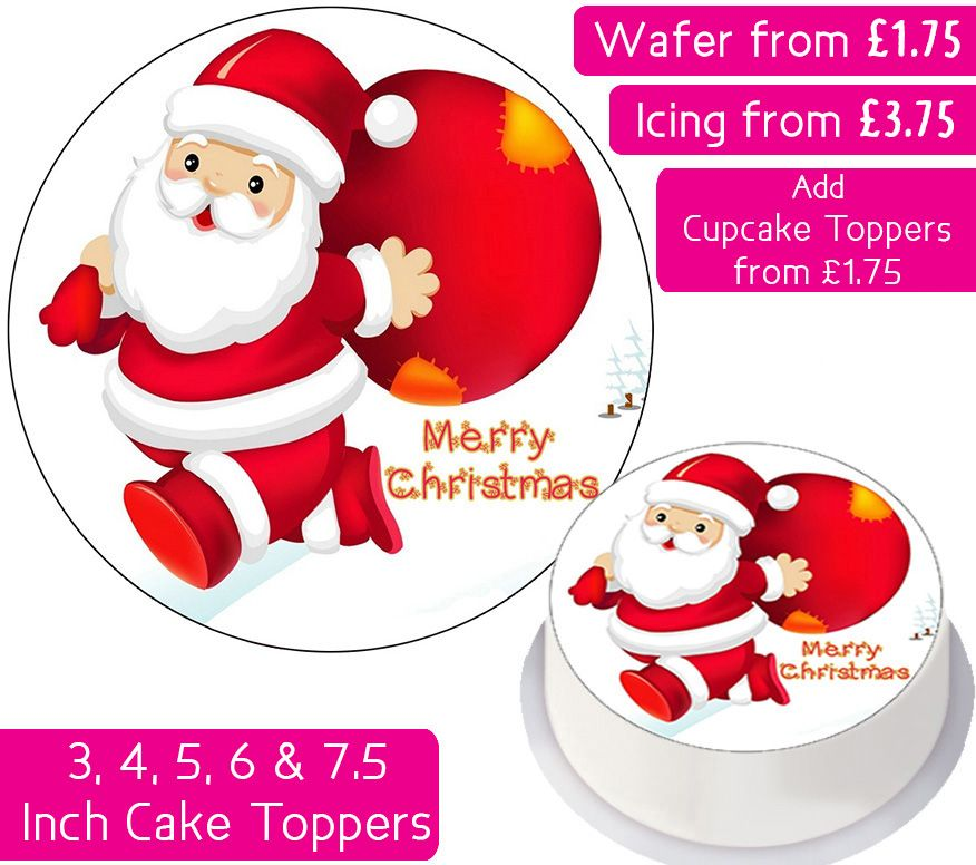 Christmas Anime Santa Personalised Cake Topper